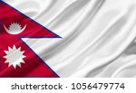 Nepal Flag Waving With The Win...