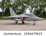 Small photo of LEEUWARDEN, THE NETHERLANDS - JUN 10, 2016: Italian Air Force Alenia Aermacchi M-346 (T-346A) Master trainer jet.