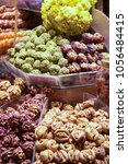 Small photo of very good dried fruit desserts expositions in istanbul bazaar