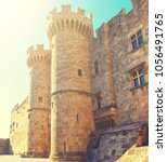 Small photo of Palace of the Grand Master the Knights Rhodes, a medieval castle the Hospitaller on the island , Greece.