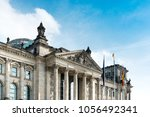 reichstag building is a... | Shutterstock . vector #1056492341