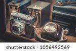 classic film cameras | Shutterstock . vector #1056492569