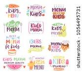 kids menu sign vector... | Shutterstock .eps vector #1056495731