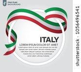 italy flag background | Shutterstock .eps vector #1056496541