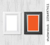 white laminate and parquet... | Shutterstock .eps vector #1056497411