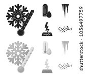 humidity  icicles  thunderbolt  ...   Shutterstock .eps vector #1056497759