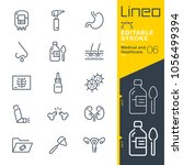 lineo editable stroke   medical ... | Shutterstock .eps vector #1056499394