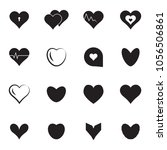 simple heart icon colection... | Shutterstock . vector #1056506861