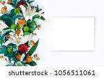 a beautiful floral arrangement... | Shutterstock . vector #1056511061