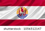 french polynesia flag waving... | Shutterstock . vector #1056512147
