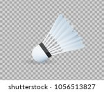 realistic shuttlecock for big... | Shutterstock .eps vector #1056513827