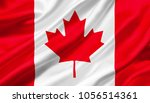 canada flag waving with the... | Shutterstock . vector #1056514361