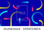 minimal geometric background.... | Shutterstock .eps vector #1056514814