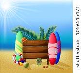 summer time vector design... | Shutterstock .eps vector #1056515471