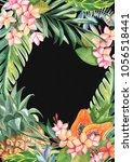 tropical plants  leaves ... | Shutterstock . vector #1056518441