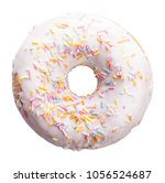 sweet donut isolated with... | Shutterstock . vector #1056524687