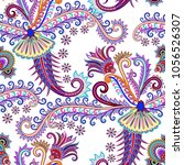 seamless pattern with long... | Shutterstock .eps vector #1056526307