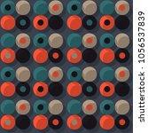 orbit offset seamless pattern.... | Shutterstock .eps vector #1056537839