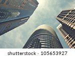 modern office buildings | Shutterstock . vector #105653927