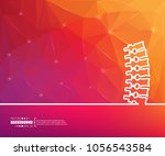 abstract creative concept... | Shutterstock .eps vector #1056543584
