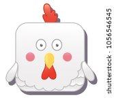 cute square hen  chicken or...