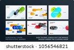 presentation. abstract vector...   Shutterstock .eps vector #1056546821