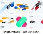 set of abstract vector design... | Shutterstock .eps vector #1056546854