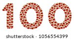 100 text collage of tomato.... | Shutterstock .eps vector #1056554399