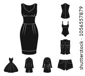 women clothing black icons in...   Shutterstock .eps vector #1056557879