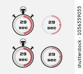 timer 29 seconds on gray... | Shutterstock .eps vector #1056559055