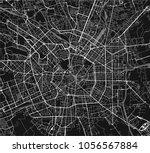 vector map of the city of milan ... | Shutterstock .eps vector #1056567884
