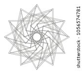 geometric set stars and flowers ... | Shutterstock .eps vector #1056574781