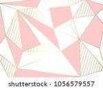 illustration  gold line... | Shutterstock .eps vector #1056579557