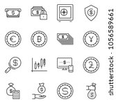 thin line icon set   monitor... | Shutterstock .eps vector #1056589661