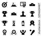 solid vector icon set   target... | Shutterstock .eps vector #1056604487