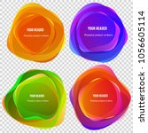 abstract blur shapes color... | Shutterstock .eps vector #1056605114