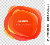 abstract blur shapes color... | Shutterstock .eps vector #1056605117