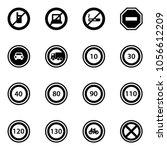 solid vector icon set   no... | Shutterstock .eps vector #1056612209