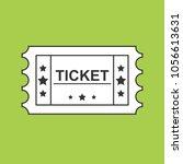 ticket black line icon on green ... | Shutterstock .eps vector #1056613631
