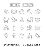 baby icons set. isolated doodle ...   Shutterstock . vector #1056614255