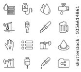 thin line icon set   oil jack... | Shutterstock .eps vector #1056614861