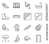 thin line icon set   cutter... | Shutterstock .eps vector #1056615947