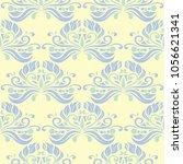 floral seamless pattern. beige... | Shutterstock .eps vector #1056621341