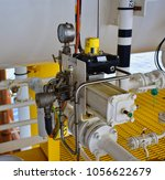 manual operate ball valve at... | Shutterstock . vector #1056622679