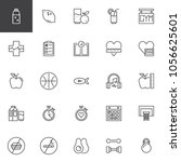 healthy lifestyle outline icons ... | Shutterstock .eps vector #1056625601