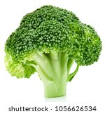 raw broccoli isolated on white... | Shutterstock . vector #1056626534