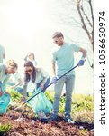volunteering  charity  cleaning ... | Shutterstock . vector #1056630974