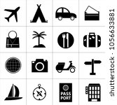 travel icon set | Shutterstock .eps vector #1056633881