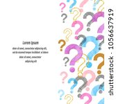 colorful watercolor question...   Shutterstock .eps vector #1056637919