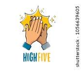 high five vector illustration....   Shutterstock .eps vector #1056639605